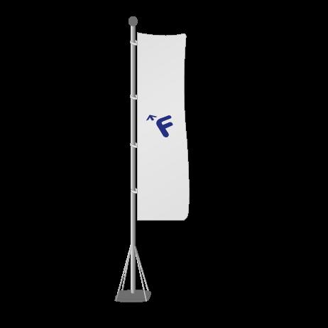 Mobiler Fahnenmast 5m